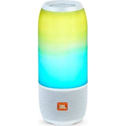 JBL Pulse 3 White ,Bluetooth Waterproof Speaker, Light Show & 360o Sound